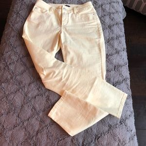 NYDJ Ankle Fit Size 2 Light Yellow Jeans